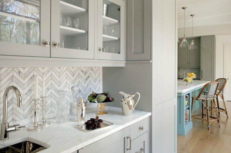 Modern herringbone pattern to give unique elements to your kitchen 10