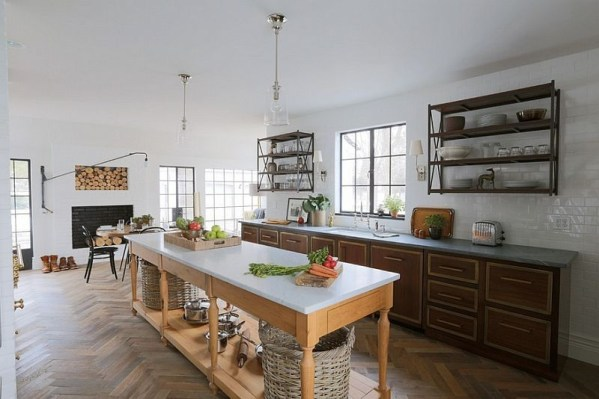 Modern herringbone pattern to give unique elements to your kitchen 11