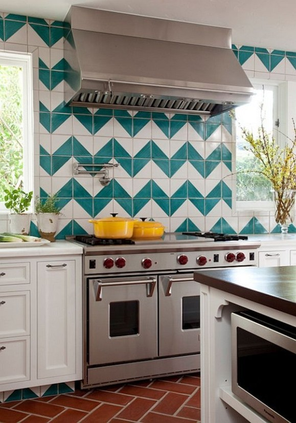 Modern herringbone pattern to give unique elements to your kitchen 15