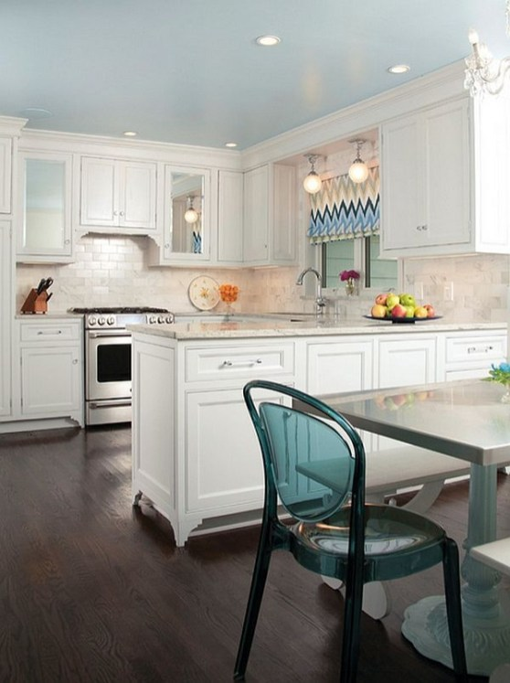Modern herringbone pattern to give unique elements to your kitchen 19