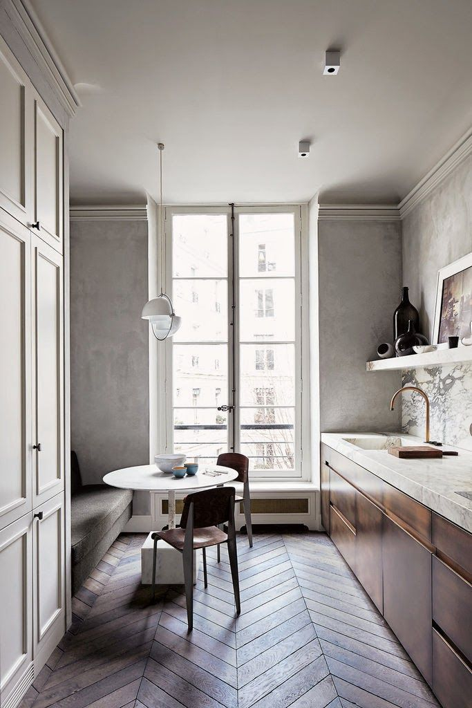 Modern herringbone pattern to give unique elements to your kitchen 42