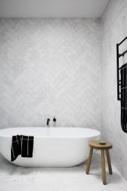 Stunning herringbone patterns for your bathroom wall 02