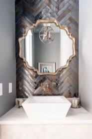 Stunning herringbone patterns for your bathroom wall 05