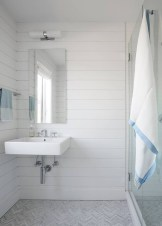 Stunning herringbone patterns for your bathroom wall 06