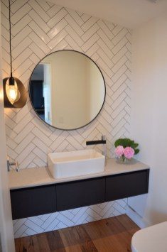 Stunning herringbone patterns for your bathroom wall 08
