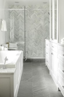 Stunning herringbone patterns for your bathroom wall 10