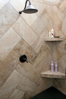 Stunning herringbone patterns for your bathroom wall 42