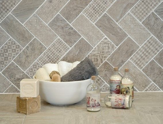 Stunning herringbone patterns for your bathroom wall 43