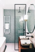 Stunning herringbone patterns for your bathroom wall 45