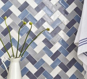 Stunning herringbone patterns for your bathroom wall 48