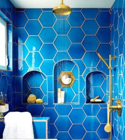 Unique honeycomb tile to give your bathroom a new look 04