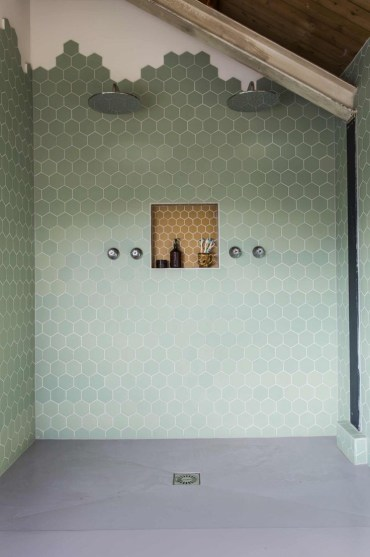 Unique honeycomb tile to give your bathroom a new look 05