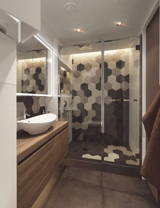 Unique honeycomb tile to give your bathroom a new look 08