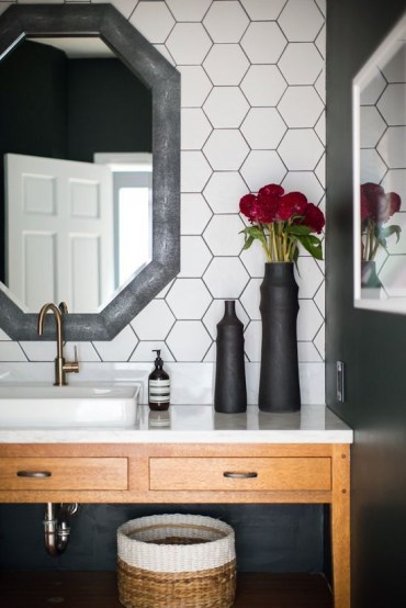 Unique honeycomb tile to give your bathroom a new look 09