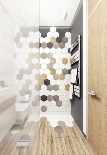 Unique honeycomb tile to give your bathroom a new look 12