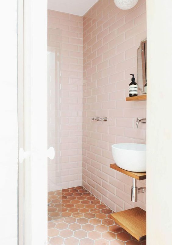 Unique honeycomb tile to give your bathroom a new look 15