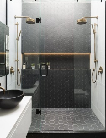 Unique honeycomb tile to give your bathroom a new look 25