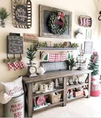 Adorable farmhouse christmas decor ideas 11