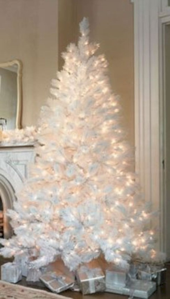 Awesome silver and white christmas tree decorating ideas 15