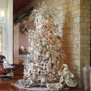 Awesome silver and white christmas tree decorating ideas 22
