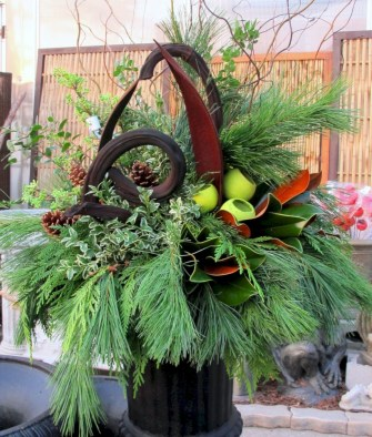 Colorful winter planters for your outdoor decorations 11