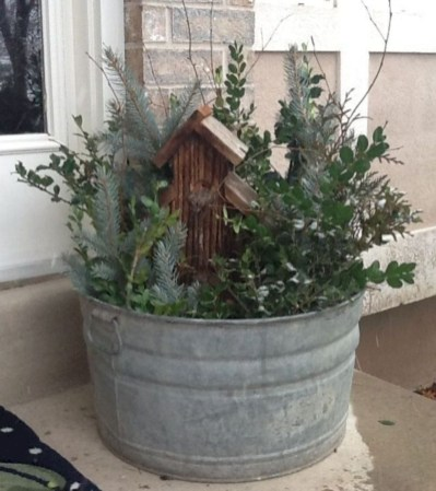 Colorful winter planters for your outdoor decorations 30