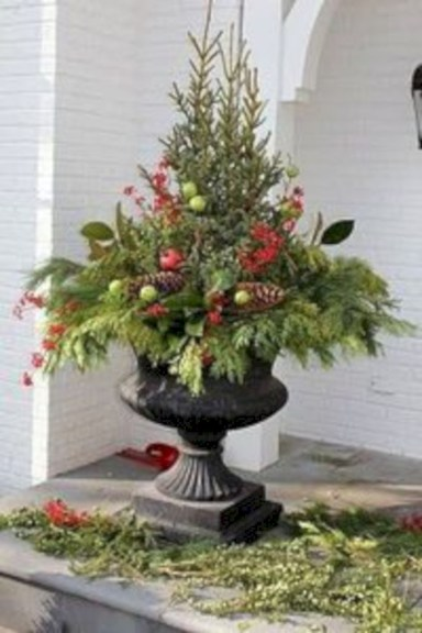 Colorful winter planters for your outdoor decorations 41