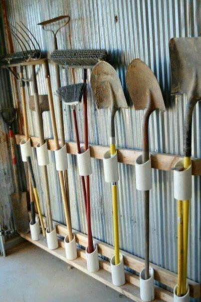 Creative hacks to organize your stuff for garage storage 05
