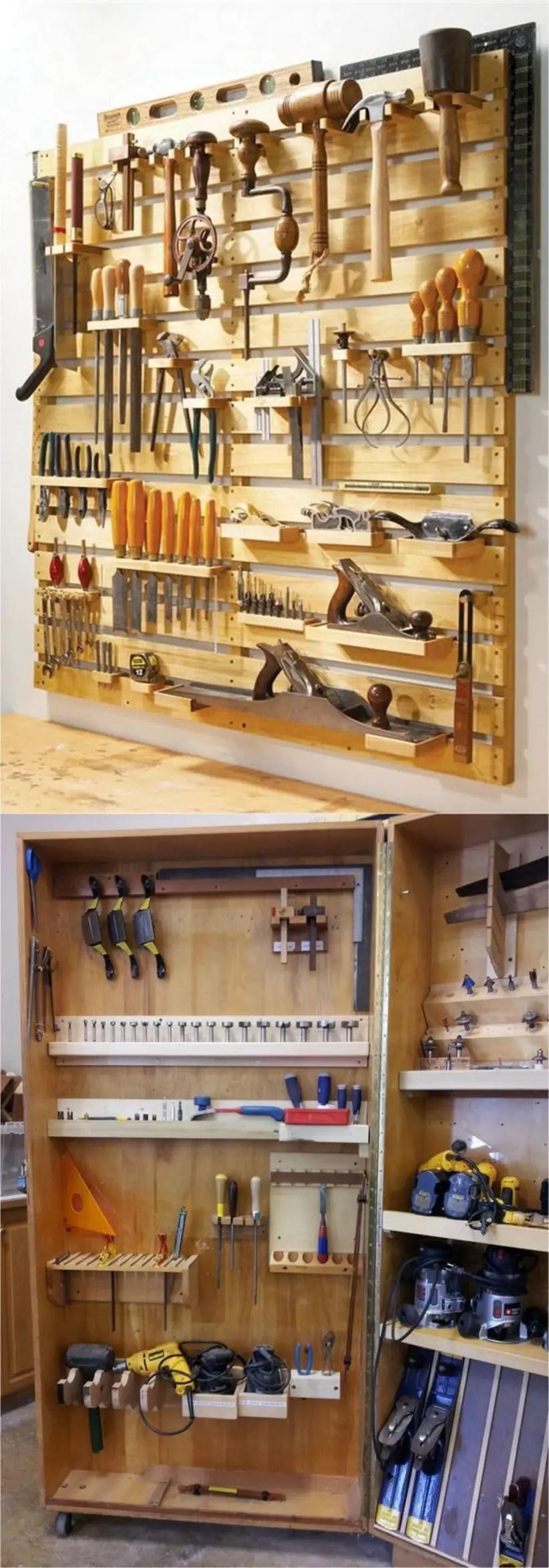 Creative hacks to organize your stuff for garage storage 08