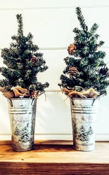 Genius ways to repurpose galvanized buckets this christmas 27