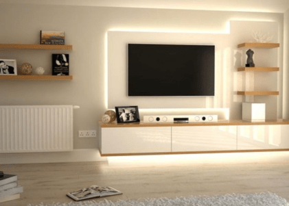 Modern tv stand design ideas for small living room 01