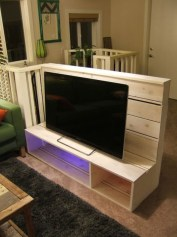 Modern tv stand design ideas for small living room 16