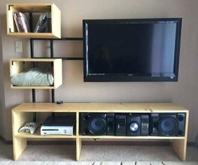 Modern tv stand design ideas for small living room 35