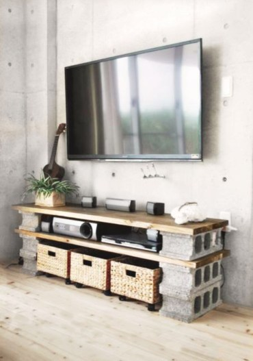Modern tv stand design ideas for small living room 44