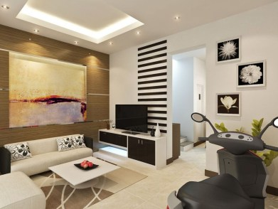 Modern tv stand design ideas for small living room 51
