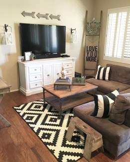 Modern tv stand design ideas for small living room 52