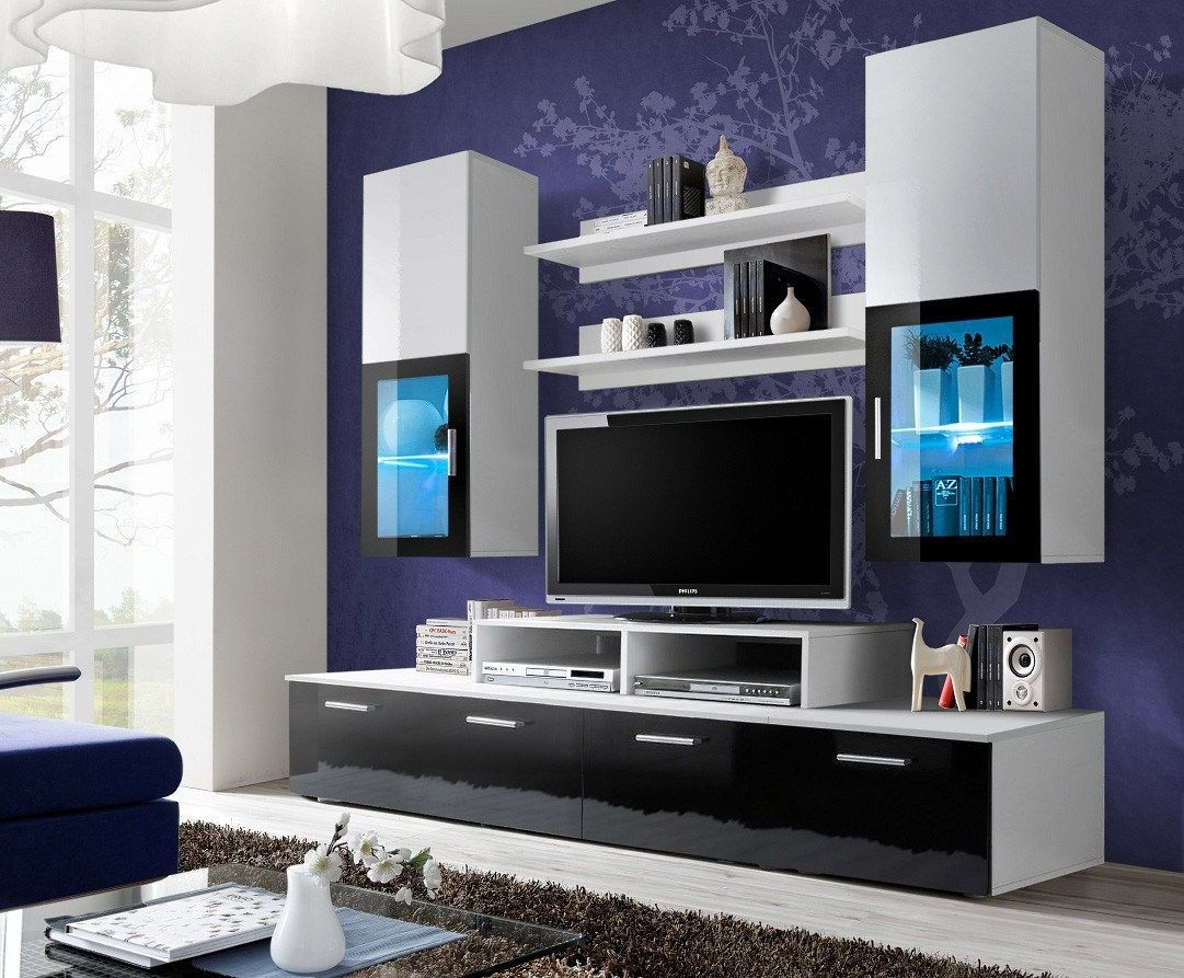 55 Modern TV Stand Design Ideas For Small Living Room - Matchness.com