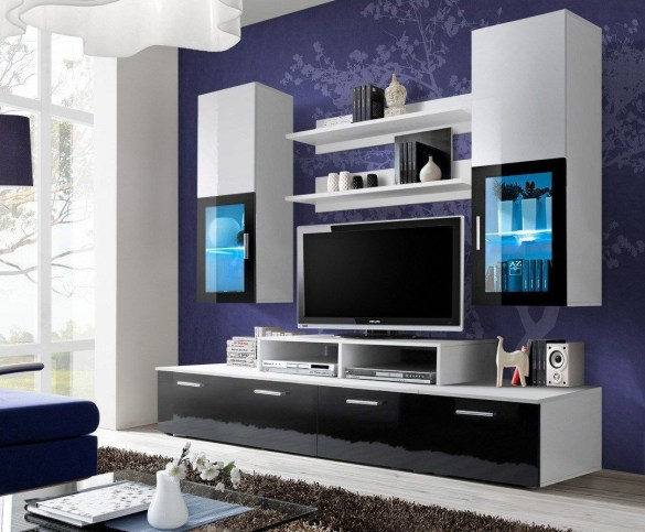 Modern tv stand design ideas for small living room 54
