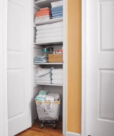 Ways to organizing your chaotic linen closet 15