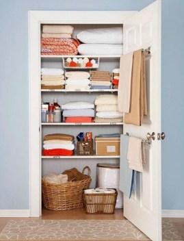Ways to organizing your chaotic linen closet 19