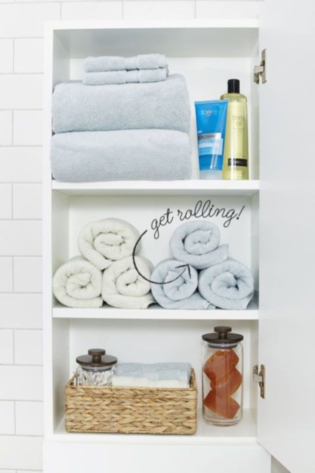 Ways to organizing your chaotic linen closet 38