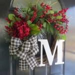 Winter christmas wreath to compliment your door 28