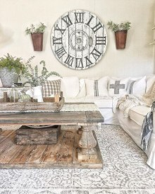 Awesome country farmhouse decor living room ideas 05