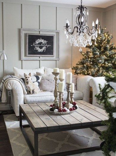 Awesome country farmhouse decor living room ideas 08
