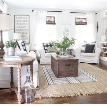Awesome country farmhouse decor living room ideas 17