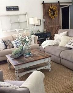 Awesome country farmhouse decor living room ideas 24