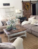 Awesome country farmhouse decor living room ideas 24