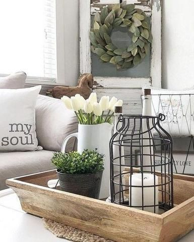 Awesome country farmhouse decor living room ideas 28