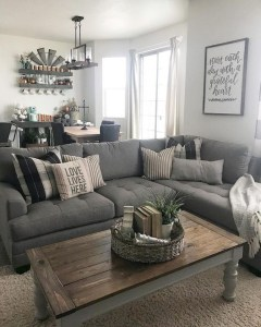 Awesome country farmhouse decor living room ideas 33