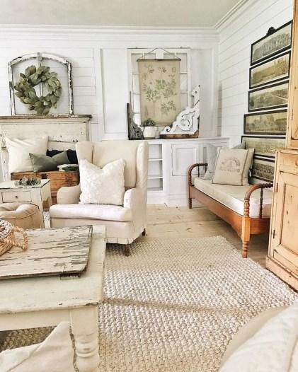 Awesome country farmhouse decor living room ideas 34